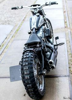 Pretty Motorcycle !!  ..Not Sure Why It Has Knobbies Though...