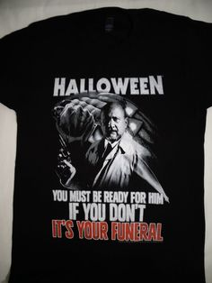 1689e6b0 Details about Michael Myers Halloween Horror Movie Boogeyman Licensed T- Shirt