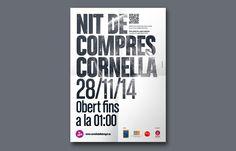 Direcció d'Art de la imatge gràfica i les peces per la 3a edició de la Nit de Compres de Cornellà.