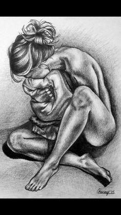 Human Anatomy Drawing, Female Drawing, Human Figure Drawing, Anatomy Art, Female Art, Sad Drawings, Girl Drawing Sketches, Pencil Art Drawings, Life Drawing