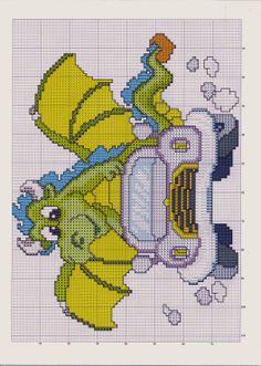 Dragon Cross Stitch, Cute Cross Stitch, Cross Stitch Animals, Cross Stitch Charts, Cross Stitch Designs, Cross Stitch Patterns, Cross Stitching, Cross Stitch Embroidery, Embroidery Patterns