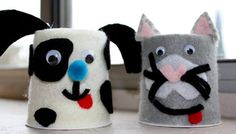 Yoghurt cup animals