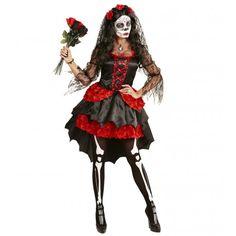 Disfraz de Catrina con Tocado para mujer #Halloween #Catrina