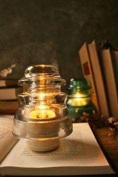 Glass Lamp Industrial Light Wedding Lighting Rustic Decor Bedside Lamp : Luke Lamp Company, etsy