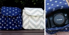 Going to the beach or theme park this summer? You want pictures, but don't want to lug around a big, bulky camera bag. These adorable camera bags are just what you've been looking for!
