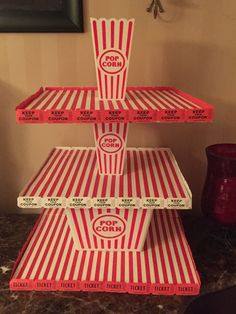 Cupcake stand for my son's carnival themed birthday party. - Danielle Sackett - Cupcake stand for my son's carnival themed birthday party. Cupcake stand for my son's carnival themed birthday party. Carnival Baby Showers, Circus Carnival Party, Circus Theme Party, Carnival Birthday Parties, Birthday Party Themes, Carnival Cupcakes, Creepy Carnival, Diy Carnival, Circus Wedding