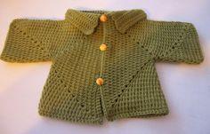 Gilet hexagones de 3 mois  - Modèles pour Bébé au Crochet