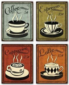 "Retro Coffee Set by N. Harbick 8""x10"" Art Print Poster by Gango, http://www.amazon.com/dp/B00506SHQS/ref=cm_sw_r_pi_dp_O3BQpb0A1CNWN"