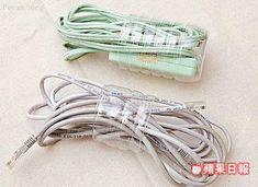 plastic bottle - cord organizer