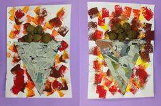 Paperina de castanyes Material: paper, paper de diari, paper de seda, pintura…