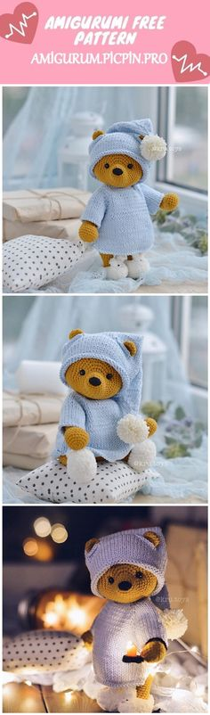 Amigurumi pink teddy bear free crochet pattern, the latest amigurumi crochet toy patterns are waiting for you on our site. Crochet Animal Patterns, Crochet Doll Pattern, Crochet Patterns Amigurumi, Crochet Dolls, Crochet Teddy Bear Pattern Free, Chat Crochet, Crochet Bear, Free Crochet, Stuffed Toys Patterns