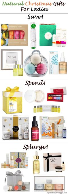 Natural Organic Christmas Gifts For Women