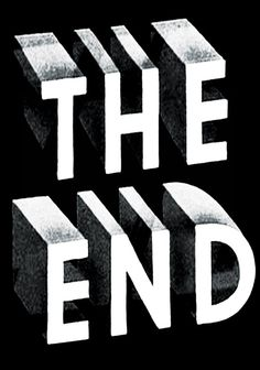 The End - print liberation Cool Typography, Typography Letters, Typography Design, Hand Lettering, Inspiration Typographie, Typography Inspiration, Design Inspiration, Design Ideas, Funny Commercials