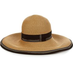 Filù Hats Arenal foldable straw hat ($206) ❤ liked on Polyvore featuring accessories, hats, cream, wide brim hat, straw hat, band hats, foldable hat and cream hat