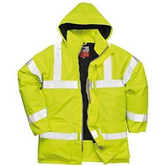 Portwest Bizflame Hi-Vis Antistatic Flame Resistant Rain Jacket