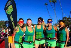 brew mile ninja turtles Run Disney Costumes, Running Costumes, Teen Costumes, Woman Costumes, Mermaid Costumes, Pirate Costumes, Group Costumes, Running Training Plan, Running Workouts