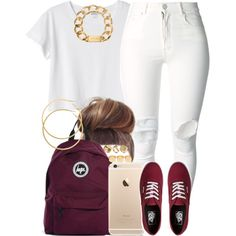 A fashion look from December 2014 featuring Monki t-shirts, (+) PEOPLE jeans and Vans sneakers. Browse and shop related looks.