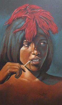 A work by Wakaba Mutheki that I love. He does amazing jazz scenes, buts love this. Africa Art, Creative Crafts, Black Art, South Africa, Fantasy Art, Jazz, Cool Art, Art Photography, African