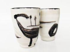 couple ceramic mugs by jacaranda4u on Etsy