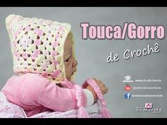 Gorro touca de crochê Quadradinhos - Passo a passo - #crochet - YouTube