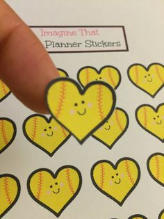 Happy softball planner stickers for your Erin by ImagineThatbyLori