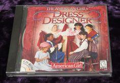 American Girl Fashion Dress Designer PC computer game CD Clothing Paper Dolls