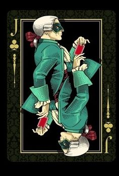 Venexiana deck - by Lotrek for Half Moon Playing Cards.