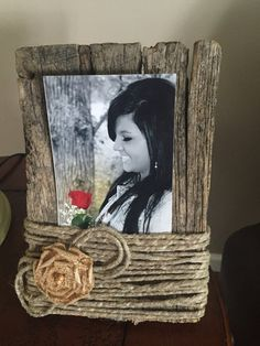 Rustic barn wood picture frame by Chellbellcrafts on Etsy