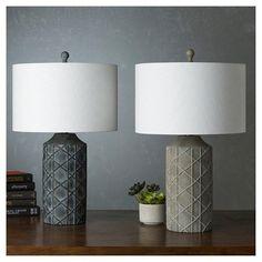 Zavaleta Table Lamp Pewter (Silver) - Surya