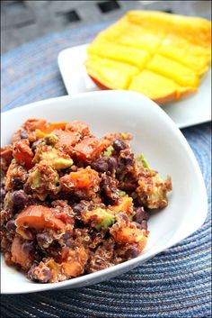 Sweet Potato Black Bean Quinoa Salad | Via the amazing @fannetasticfood