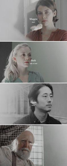 Greene/Rhee Family + Name Meanings #twd