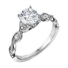 Perfect engagement ring for the vintage bride! From Wedding Day Diamonds!