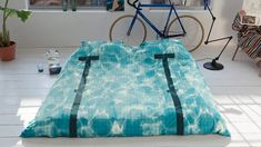 Turn Your Bed into a Swimming Pool  http://www.thisiscolossal.com/2014/02/turn-your-bed-into-a-swimming-pool/