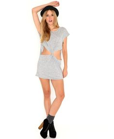 Camron Melange Cut Out Tunic-dresses-missguided
