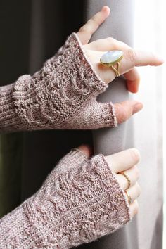 Owlie mitts by Julie Elswick Suchomel