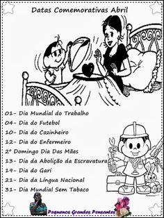 Pequenos Grandes Pensantes.: Datas Comemorativas de Maio