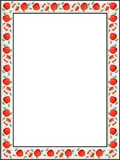 Apple Border Writing Paper Vores i marcs on pinterest page borders ...