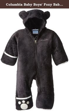 fca05dc76 Columbia Kids Foxy Baby II Bunting (Infant) (Black/Sea Salt) Kid's Jumpsuit  & Rompers One Piece