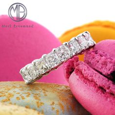 6.20ct Radiant Cut Diamond Eternity Band and 18k White Gold SKU: 3763-1