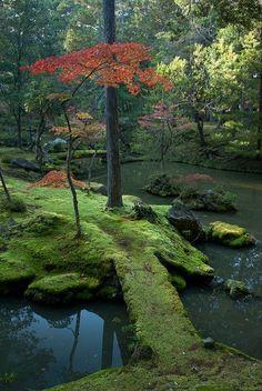 The moss gardens of Saiho-ji Temple in Kyoto, Japan. https://ExploreTraveler.com