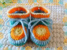 *.:。✿JosyCrea✿.。.:* Tejido a Crochet y Más!: Zapatitos crochet (nuevo modelo) y mimo