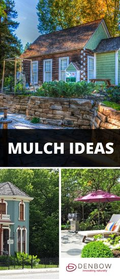 Garden Mulch Ideas for people who want to landscape with mulch to improve curb appeal. Visit denbow.com for more on landscaping, gardening, and mulch products.