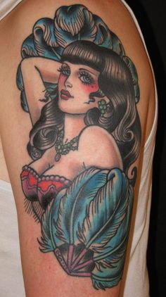 Old School #pinup #tattoo - #tattoos