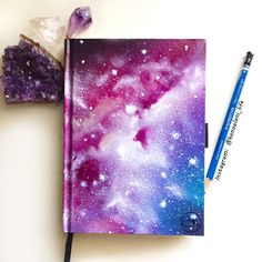 Galaxy painted notebook
