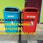 Jual Tempat Sampah Fiber Oval Dua Pilah