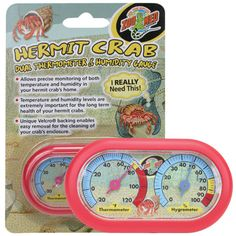 Hermit Crab Dual Thermometer | thatpetplace.com | #HermitCrab #ZooMed #Thermometer