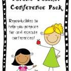 Parent Teacher Conference Packet - brilliant idea!