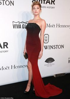 Hailey Baldwin Stuns at amfAR Gala