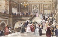 Grande fête au Château de Versailles by Eugène Louis Lami.