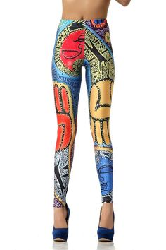 SEXY LADY GALAXY LEGGINGS PRINTED COSMIC SPACE PANTS TIE DYE TIGHTS NEW SUMMER FASHION CASUAL ABSTRACT PAINTING ALARM PATTERN 3D DIGITAL PRINTING SEXY LEGGINGS FOR WOMEN